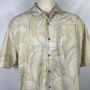 Tommy Bahama 100% Silk No Dry Cleaning Shirt XXL